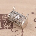 Thai silver wholesale S925 Sterling Silver Pendant antique style exquisite female bag shape pendant can open the lock