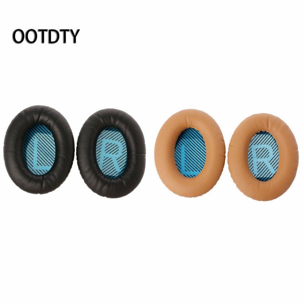 Remplacement Oreille Tapis pour Bose Casque Protéines En Cuir Oreille Coussins pour Bose Quietcomfort 2 QC25 AE2 QC2 QC15