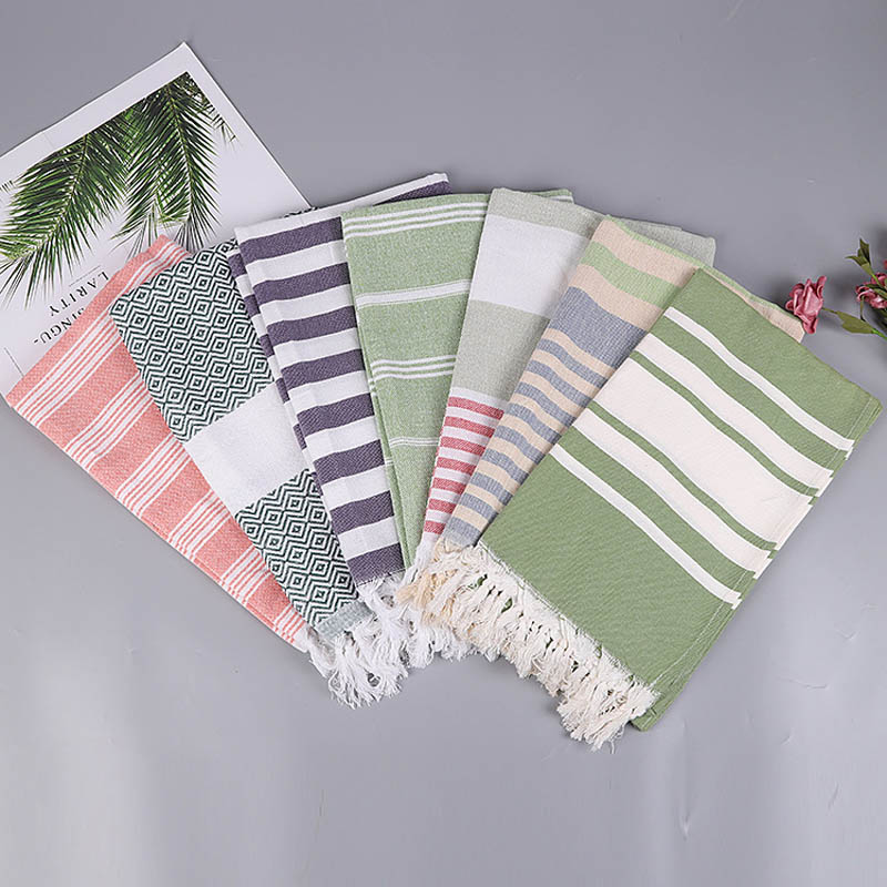 Turkish Beach Towels 100% Cotton Stripes Thin Bath Towel