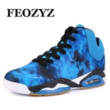 FEOZYZ New Air Sole Damping Men Basketball Shoes Strong Grip Mens Basketball Sneakers Mid Cut Sport