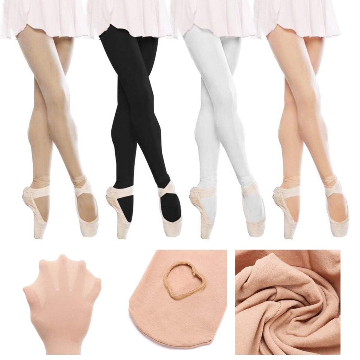 Children Girls Convertible Tights Ballet Dance Stocking Socks Ballet Pantyhose Gymnastics Leotards Kids Ladies Tap Dance Tights