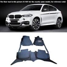 15-17 для BMW X6 F16 2015 2016 2017 Интимные аксессуары подкладке кожа ковры покрытие автомобиля пол ноги Коврики пол pad 1 компл.