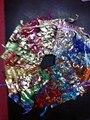 100 Random Mixed Drawable Organza Wedding Gift Bags&Pouches 7x9cm