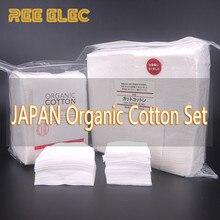 5pcs+10pcs Organic Cotton 2 Kinds Cotton For Different Liquid No Bleach Healthy Huge Vapor Cotton For E Cigarette RDA Atomizer