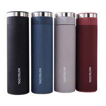 1pc Stainless Steel Water Bottle 500ml Double Wall Vacuum Insulated Business Travel Sport Thermos Outdoor Cup Cover