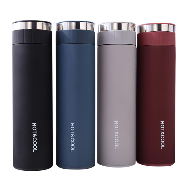 Double Wall Vacuum Insulated Business Travel Sport Thermos Outdoor Water Bottle