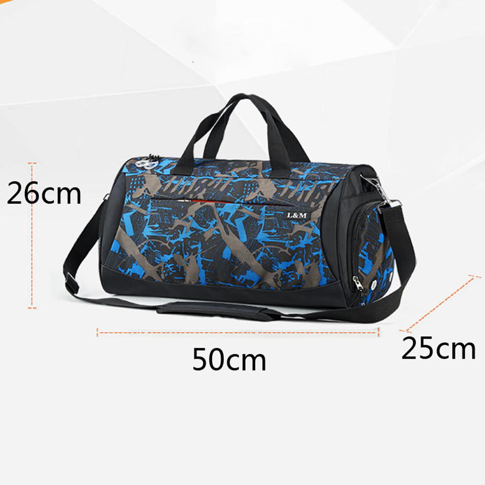Sport Gym Bag for Fitness Dry Wet Separation Men Women Training Outdoor Travel Bags Handbag Shoulder Yoga Bag with Shoes Storage in Gym Bags from Sports Entertainment