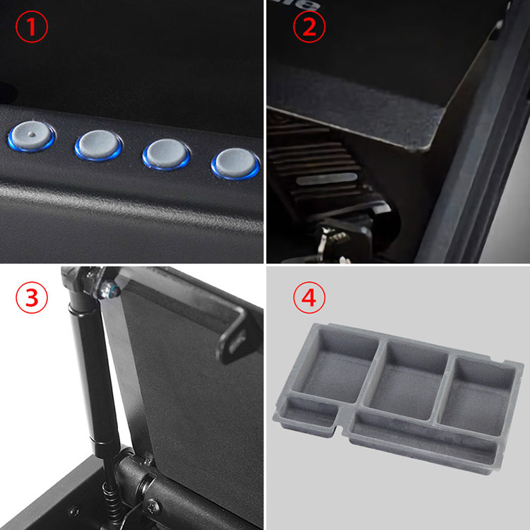 Master Lock Electronic Password Safes Compact Drawer Safe Box with Electronic Lock Solid Steel Waterproof Secret Box Gun Safe (22)
