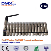 DHL Free Shipping Wireless DMX512 Transitter DMX Wireless Receiver Transmitter