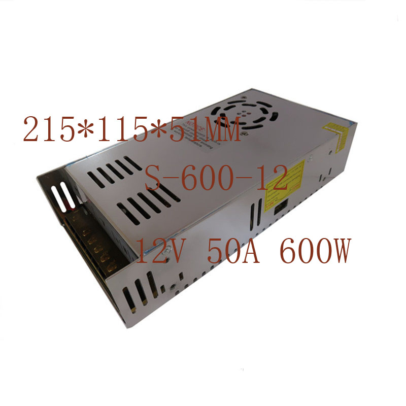 Lower Price with 12v 50a 600w Centralized Led Switching Power Supply S-600-12 Power 25*115*51mm Suitable For Men And Women Of All Ages In All Seasons Pc Power Supplies