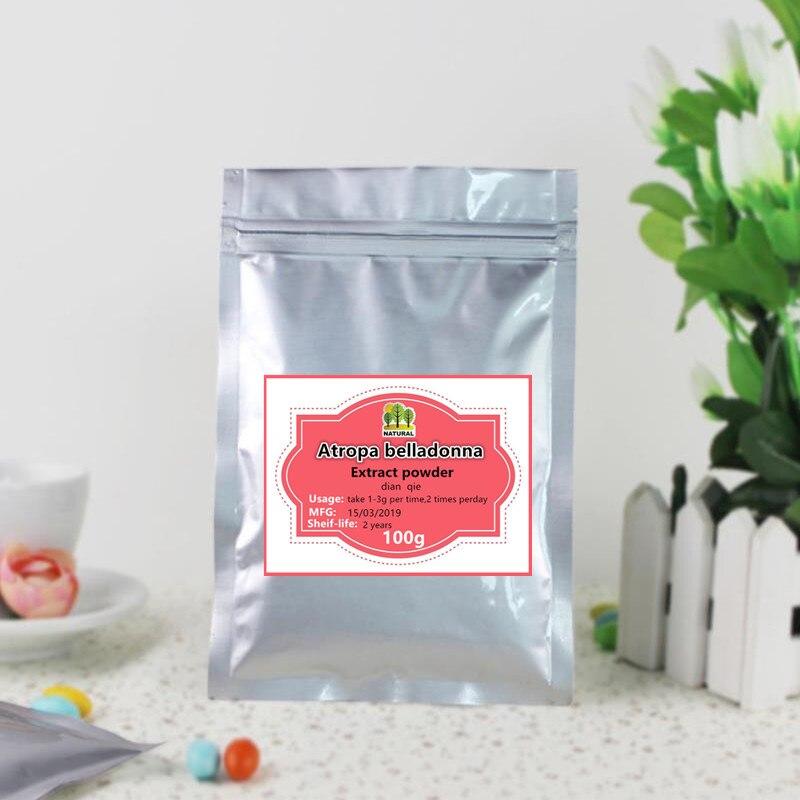 100g-1000g High-quality Pure Atropa Belladonna Extract Powder,dian Qie,Belladonnae ,scopolamine Powder,free Shipping