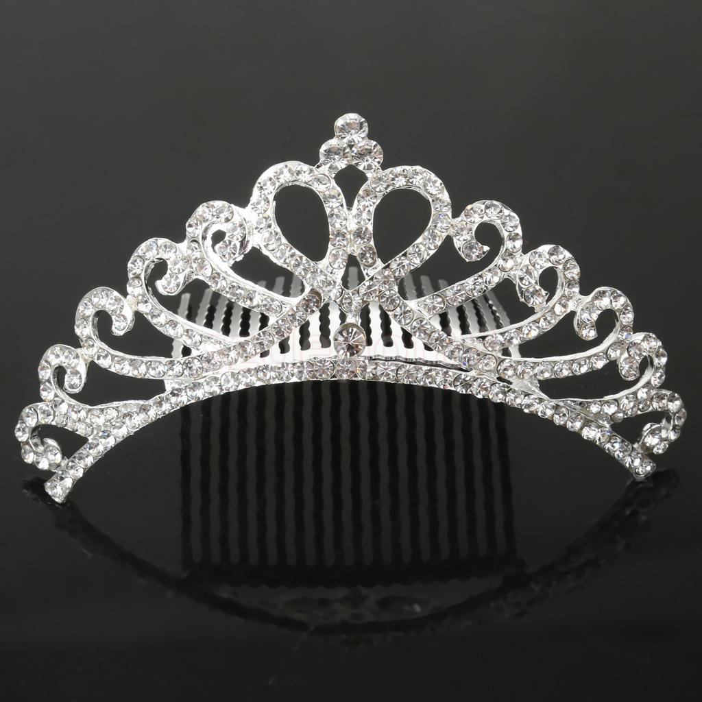 Flower Girl Rhinestone Jewelry Wedding Bridal Hair Crown Comb