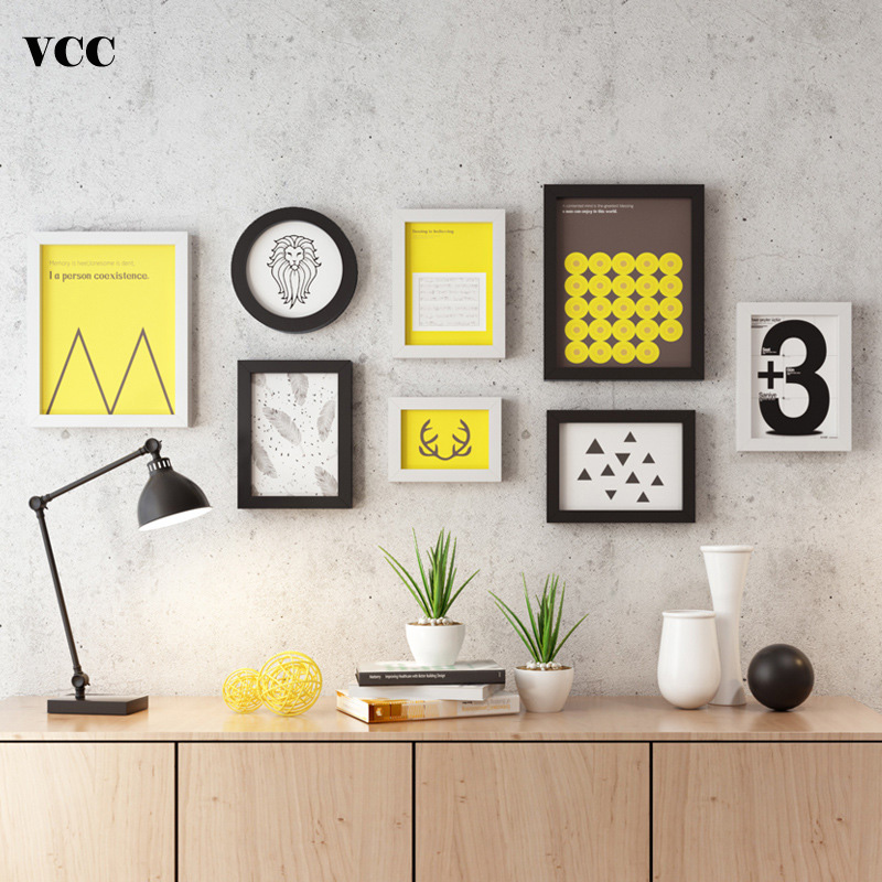 Nordic Style Natural Wood Photo Frame Photo Wall Black and White Color,Cheap Wood Wall Art Picture Frames Set for Living RoomNordic Style Natural Wood Photo Frame Photo Wall Black and White Color,Cheap Wood Wall Art Picture Frames Set for Living Room