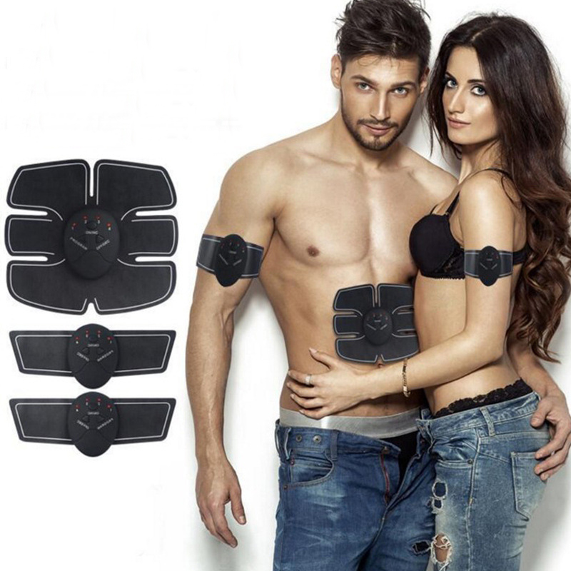 EMS Wireless Muscle Stimulator Smart Fitness Abdominal Training Device Electric Weight Loss Stickers Body Slimming Belt Unisex portable electric smart fitness gear equipment slim massager ems electrical muscle stimulator muscle stimulator training gear
