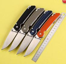 Free shipping D2 Blade G10+steel Handle tactical folding knife hunting camping outdoors knives EDC hand tools Pocket knife