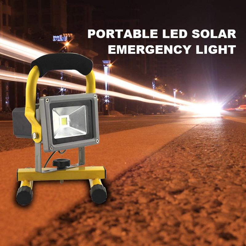 Solar LED Spotlight Outdoor Floodlights 10W IP65 Waterproof Portable Solar Powered Refletor Led Rechargeable Camping Flood light (2)_