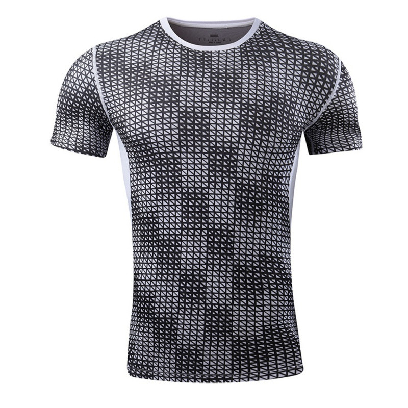 2017 Summer Men T-Shirt Tops Short Sleeve Gym Tights Shape Professional Sports Training Sportswear