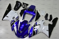 YZFR1 1998 Fairings YZFR1 1998 1999 Blue White Fairings for YAMAHA YZFR1 99 Plastic Fairings