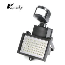 Panel de energía Solar LED de 60 leds, Sensor de luz por movimiento PIR de inundación, para exteriores, jardín, paisaje, reflector LED, lámpara de pared de emergencia de seguridad