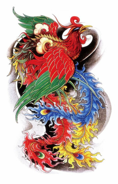 Oriental Traditional Phoenix Beauty Sexy Makeup Body Art 3D Waterproof Temporary Tattoo Stickers