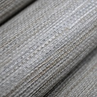 New Classic Faux Effect Grasscloth Straw Modern Wallpaper Roll Bedroom Office Wall Paper PVC Beige Grey