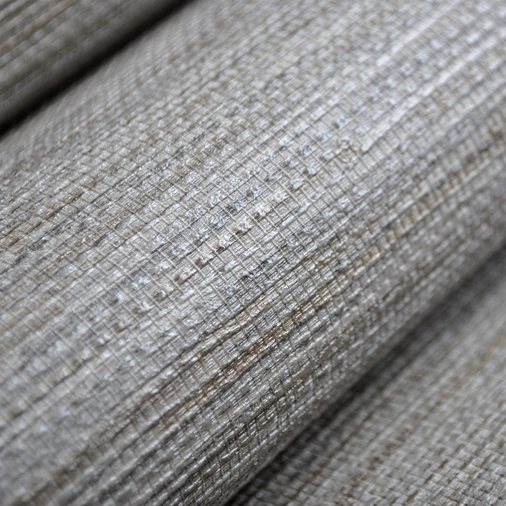 Silver Grasscloth Wallpaper: Modern Plain Rustic Textured Wallpaper Horizontal Faux