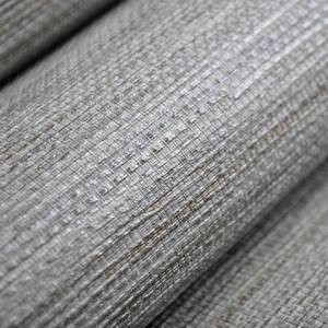 Beige Cream Gray Silver Modern Plain Rustic Textured Wallpaper Horizontal Faux Grasscloth