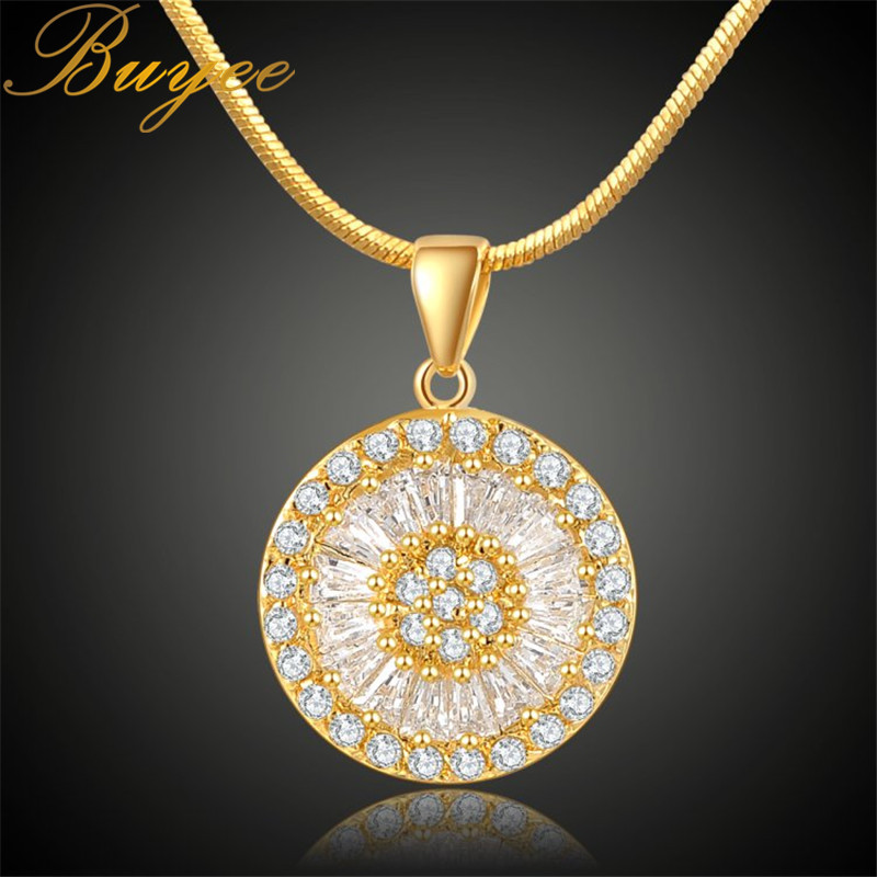 BUYEE Geometric Necklaces & Pendants Gold Color Necklace Special Design Round Collar Pendant Chokers Necklace Mothers Day