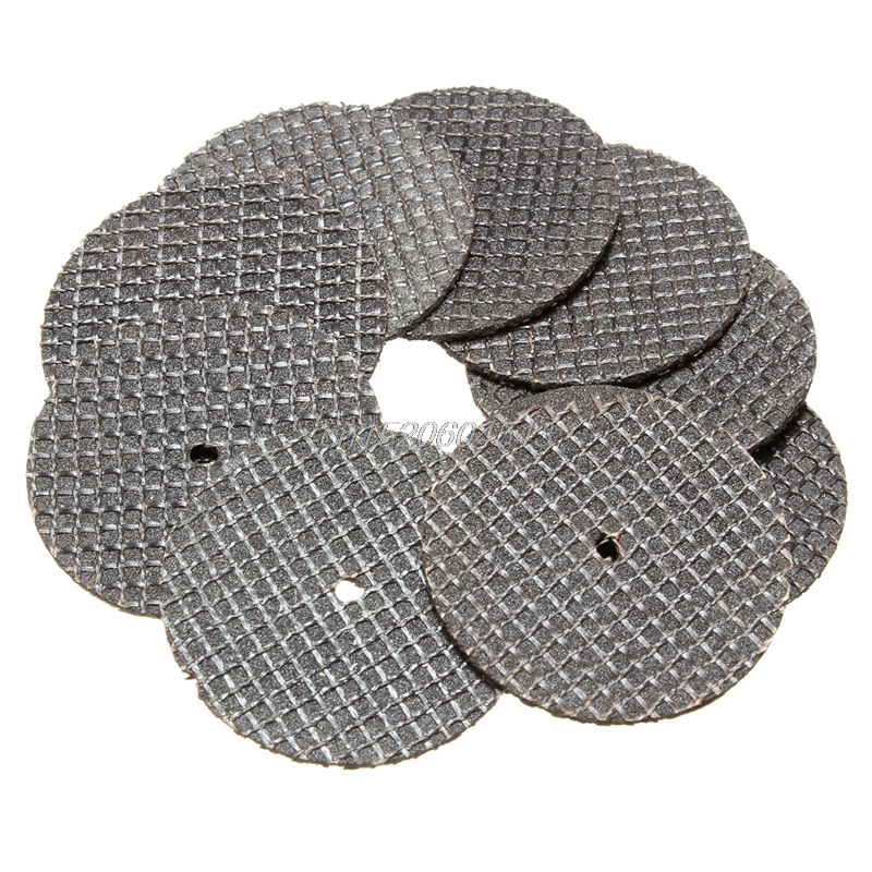New 25pc 32mm Resin Cutting Wheel Cut-off Discs Kit 1pc Mandrel For Rotary Tool
