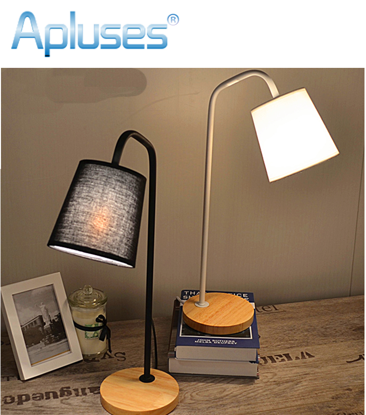 Fabric Table Lamp Modern Black / White High Grade Eyeshield Wood Desk Lamp For Home Bedroom Living Room Decoration Bedside Lamp 428 10t 19t 20mm front engine sprocket for stomp ycf upower dirt pit bike atv quad go kart moped buggy scooter motorcycle