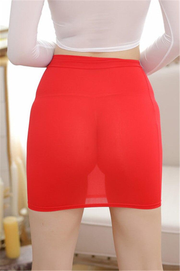 Ice Silk Transparent Slim Skirt 2019 Summer New Sexy Bag Hip Skirt Short Skirt Sexy Bodycon Wrap Mini Skirt