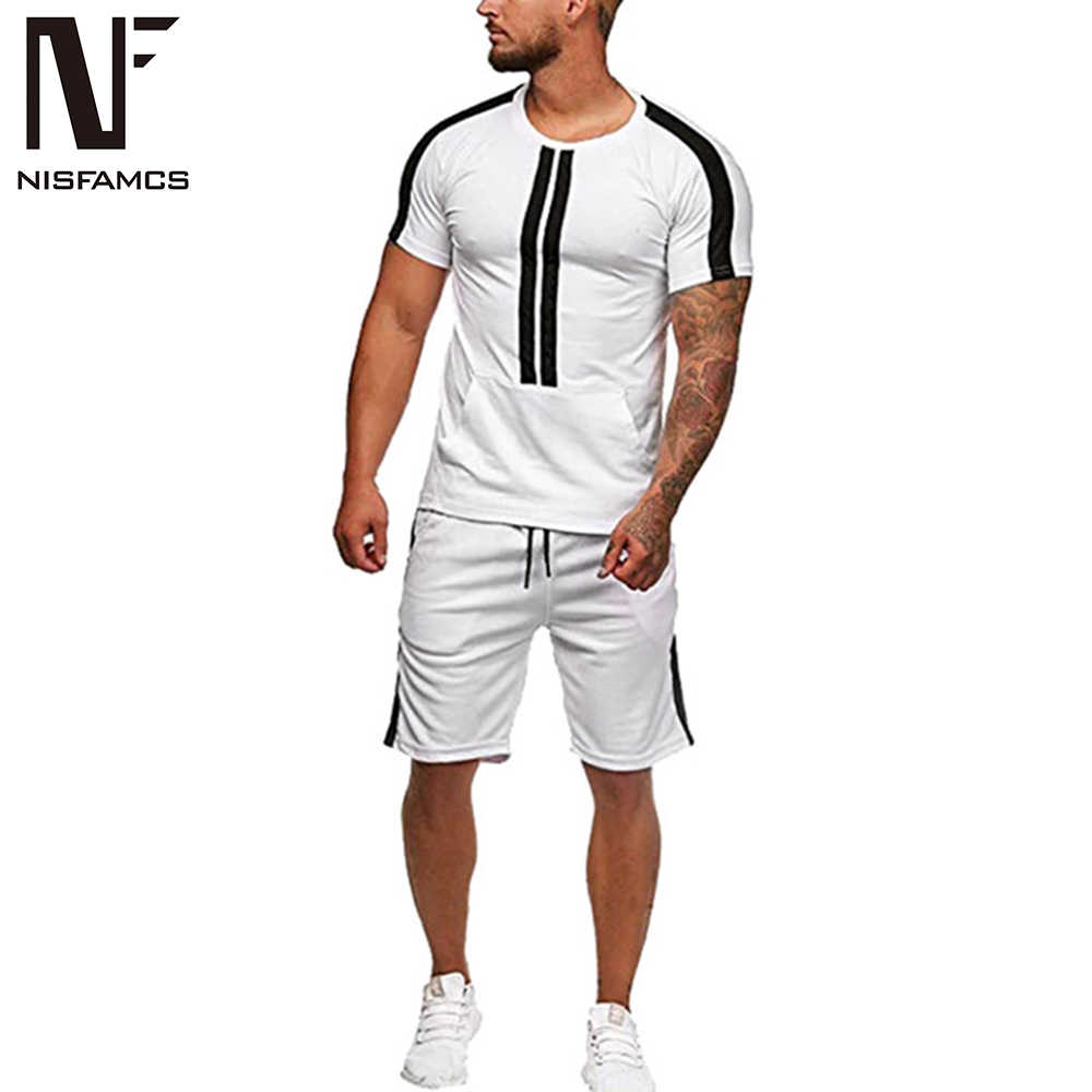 Для мужчин спортивной 2019 костюм Для мужчин комплект хип-хоп одежда Для мужчин костюмы Для мужчин s спортивный комплект костюм Брюки Лоскутные 2 частей костюм