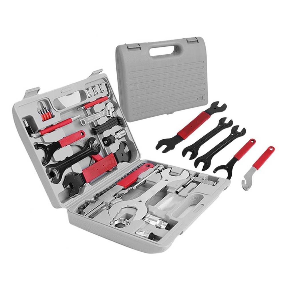 44Pcs/setMultifunction Bike Repair Tool Set Wrench Sockets Tools Kit Bicycle Repair Hand Tools Set With Box 20pcs m3 m12 screw thread metric plugs taps tap wrench die wrench set
