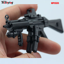 1/6 Scale Soldier 4D Assembly Rifle Submachine Gun Model Double Cartridge MP5SD5 Fit 12 Inch Action Figure Accessories Doll Toys(China)