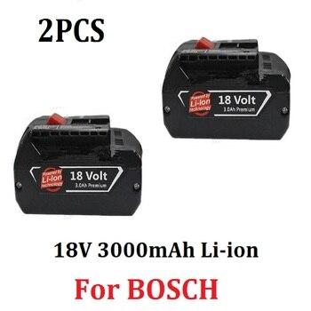 2PCS 18V 3000mAh Li-ion Power Tool Replacement Battery for Bosch BAT609 BAT609G BAT618 BAT618G 2 607 336 169 2 607 336 170