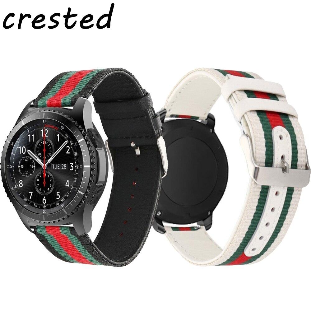 AIGRETTES 22mm Nylon + montre En Cuir de courroie de bande pour Samsung Vitesse S3 Frontière/Classique bracelet poignet bande pour xiaomi huami amazfit