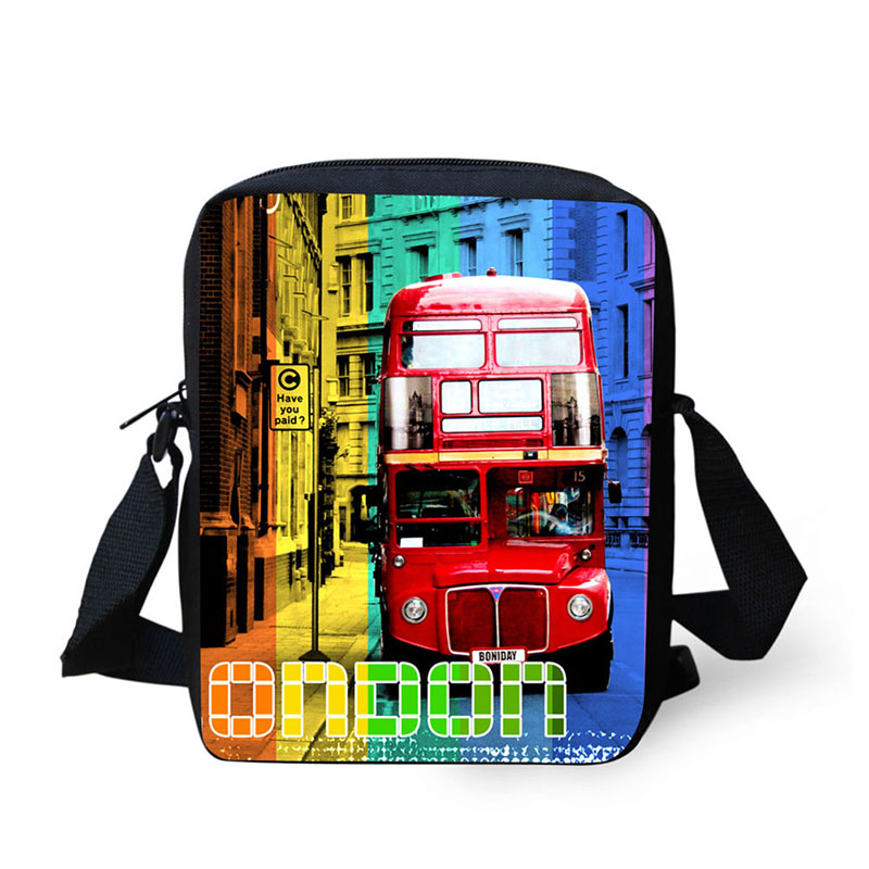 Hip Hop Style Car Pattern Front View Mini Messenger Bags For Kids Girls Travel Women Shopping Small Capacity Phone Shoulderbags