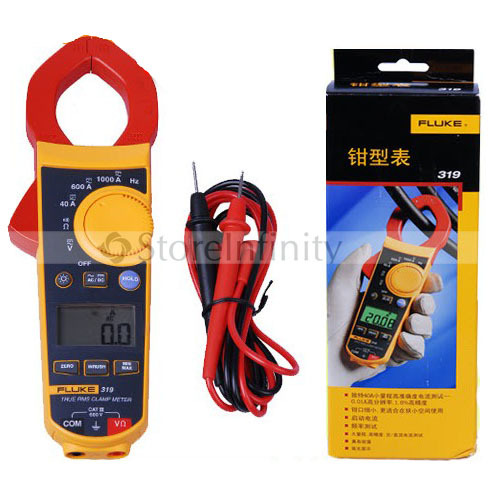 FLUKE 319 TRUE RMS Clamp Meter 37mm Frequency w Case free shipping