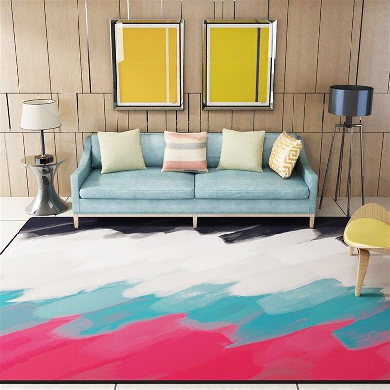 Moderne coloré abstrait dessin peinture salon salon décoratif tapis ...