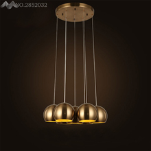 JW Modern Pendant Lights Bulb LED Pendant Lamp Kitchen Bronze Electroplating Ball Hanging Nordic Christmas Lighting Fixtures