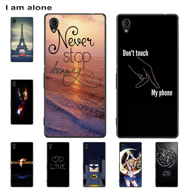 I am alone Phone Cases For Sony Xperia M4 Aqua 2015 5.0 inch Hard Plastic Bags Mobile Cellphone Fashion Color Free Shipping