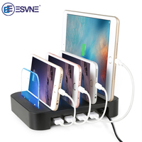 ESVNE Universal 4 Port Desktop Mobile Phone Charger 24W 5V 6.8A Charging Stand Holder USB charger For iphone 6 7 8 x ipad Huawei