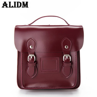 ALIDM2017 High Quality Fashion Leisure Retro Body Backpack Lady High Quality Korean PU Leather Senior School