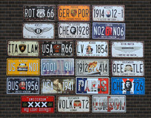 New arrival Vintage license plate Wall art craft metal painting vintage Iron for bar home decor 15X30CM Wall Sticker tin sign(China)