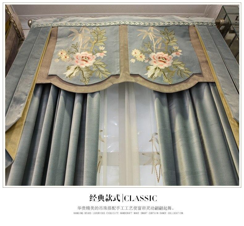 Custom Vorhange High Grade Seide Samt Europaischen Schlafzimmer