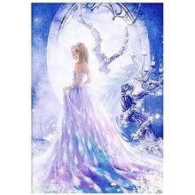 5D DIY diamond painting peacock princess full square round handmade mosaic bedroom decor chirldren gift
