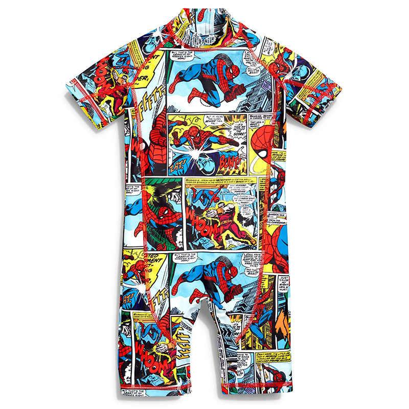 fce2be17b8 Baby Boys Swimwear One Piece Kids Swimsuit Spiderman Cartoon Swim Surfing  Children Sport UPF 50+