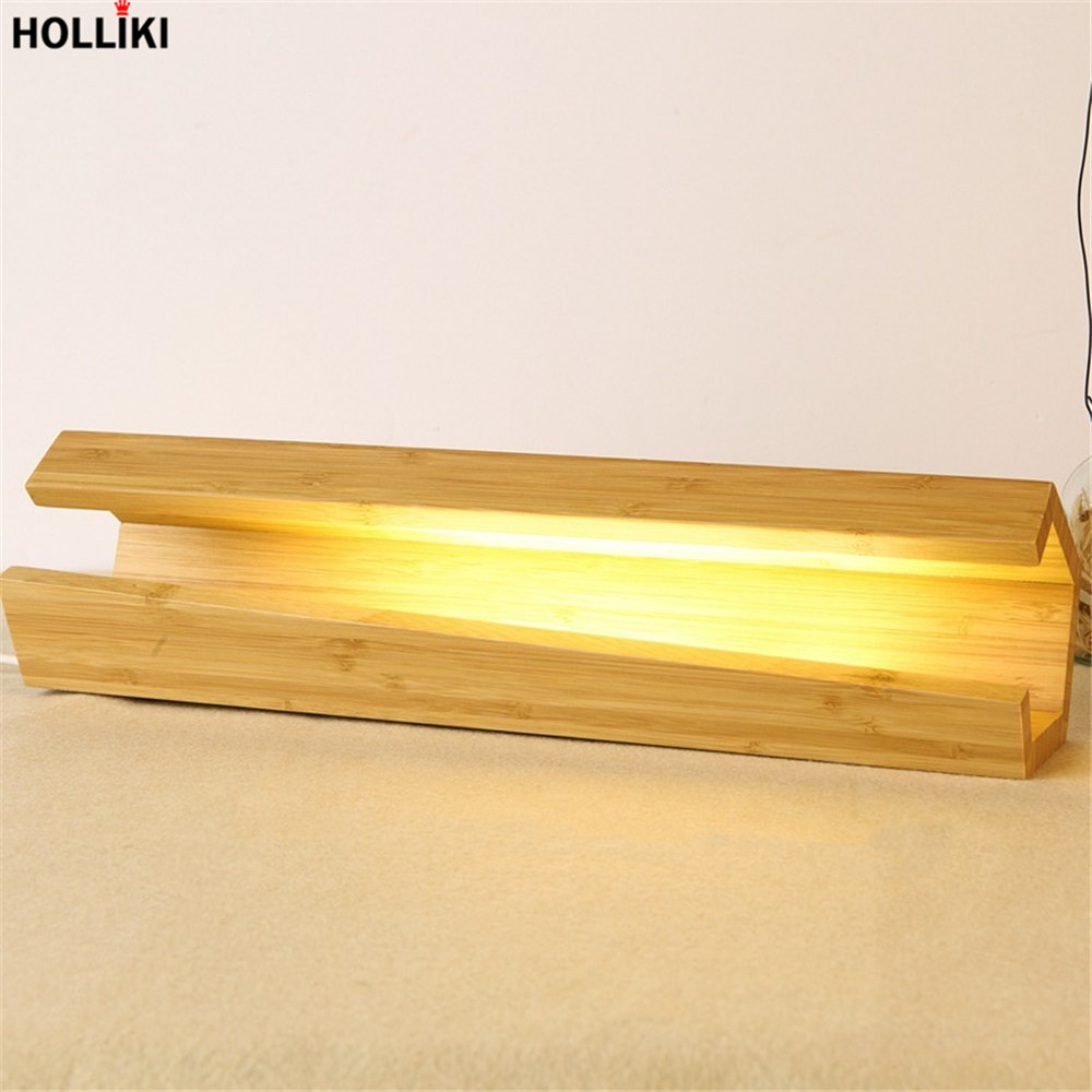 LED Wood Desk Table Lamp Modern Minimalist Design Energy Saving Reading Dimmer Lamps for Office Bedroom Decor Luminaria De Mesa