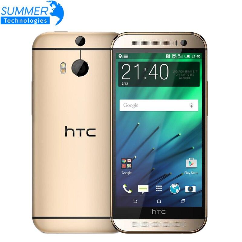 Цена за Оригинальный разблокирована htc one m8 сотовые телефоны 5 ''quad ядро 16 ГБ 32 ГБ rom wcdma lte восстановленное телефон 2 камеры зефир
