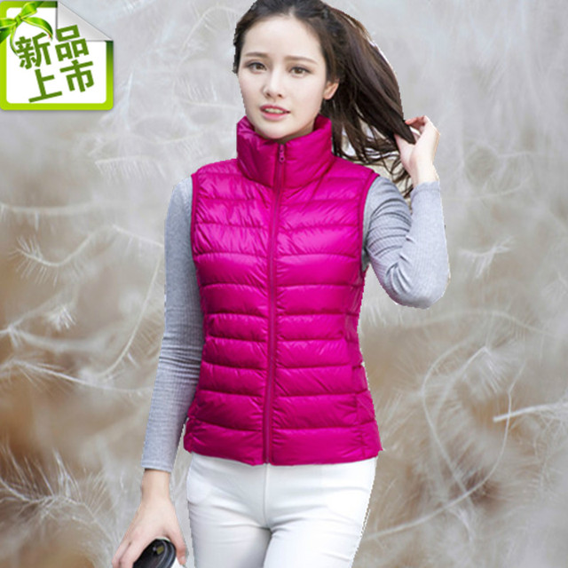 New winter slim down jacket vest vest female short paragraph Korean version of cultivating wild thin coat big yards